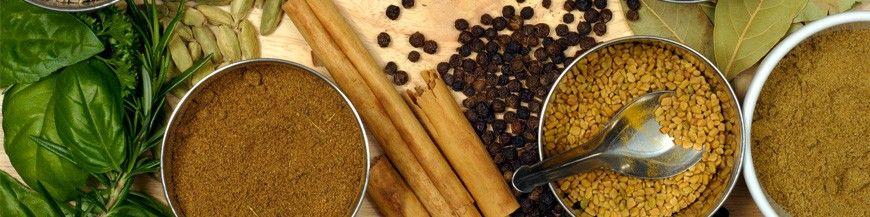 cristaux d'huiles essentielles épices